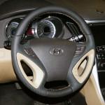 Hyundai Sonata YF перешивка перфорованою шкірою