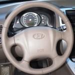 перетяжка руля бежевой кожей Hyundai Tucson