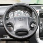 Hyundai Tucson перетяжка руля кожей
