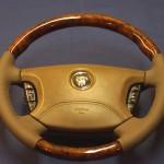 перетяжка руля з дерев'яними вставками на Jaguar S-Type R