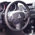 реставрація руля гладкою шкірою на Mitsubishi Lancer у Києві