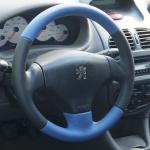 обшить руль кожей в Киеве на Peugeot 206