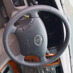 кожаный руль на Toyota Land Cruiser