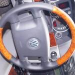 деревянный руль перетянуть кожей Volkswagen Touareg
